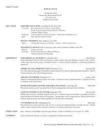 harvard law sample resume