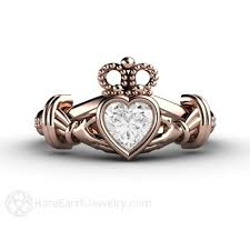 claddagh ring claddagh ring white sapphire engagement ring promise