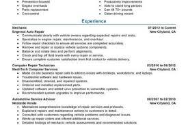 Mechanic Sample Resume by Entry Level Mechanic Resume Examples Entry Level Mechanic Resume