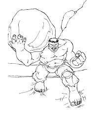 incredible hulk color pages kids colouring pages