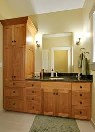 Shaker Style Bathroom Cabinets by Magnificent Bathroom Cabinet Ideas With Wall Lighting Sconce