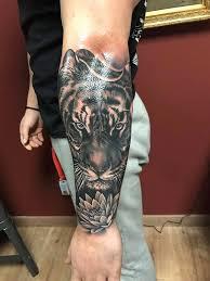 mystic eye tattoos tiger and lotus
