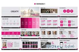 creatic powerpoint template 94090 free download photoshop