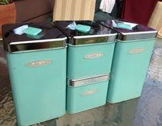 blue kitchen canister set give your kitchen countertop a dose of vintage country charm with
