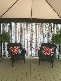 Gazebo Curtain Ideas by Shower Curtains As Gazebo Privacy Screen Great Idea In The