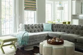 Blue Velvet Sectional Sofa by Gray Velvet Sectional Contemporary Living Room Karen B Wolf