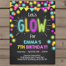 glow in the dark party invitations cloveranddot com