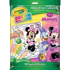 crayola color disney minnie mouse coloring book markers