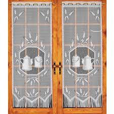 voilage cuisine paire de voilage droit maille h160 cm cuisine blanc rideau et