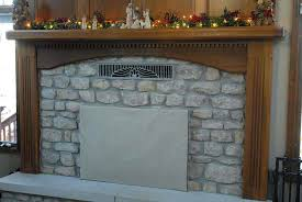 need to cover fireplace opening brick beams mantel updated styles