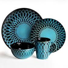 american atelier sicily 16 dinnerware set blue