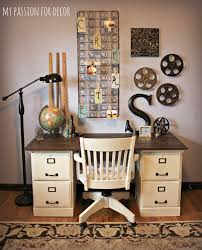 Desk With File Cabinet My For Decor My Pottery Barn Desk Hack