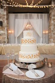 white wedding cake with gold accents elizabeth anne designs the