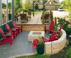 hardscape backyard patio traditional with wood deck resistant