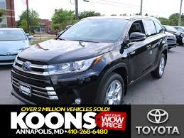 toyota car models and prices toyota highlander hybrid in annapolis md koons annapolis toyota
