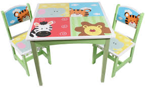 kids animal table and chairs painted wooden kids table and chairs set with animal theme of