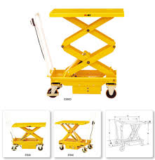 china mobile electric hydraulic elevating lift table cart china