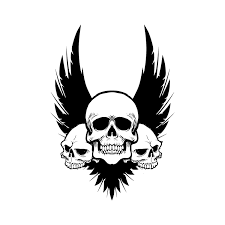 skull wings svg cut files for silhouette cricut designs vector