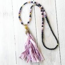 long beaded tassel necklace images Ultra violet tassel necklace boho chic necklace long beaded jpg