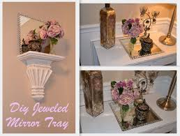 How To Decorate A Mirror Diy Decor Jeweled Mirror Tray Plate Charger My Love Of