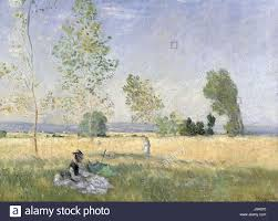 the monet family in their garden at argenteuil claude monet été 1874 stock photo royalty free image 137907364