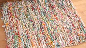 How To Make A Rag Rug From T Shirts How To Knit A Rag Rug Make