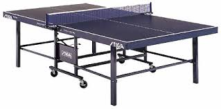 2 piece ping pong table stiga expert roller 2 piece table tennis table 1 blue top