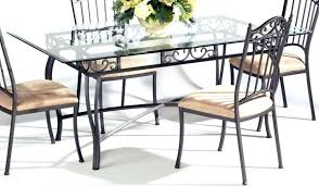 Metal Dining Room Chair Dining Tables Black Metal Dining Table Glass Top Legs Stainless