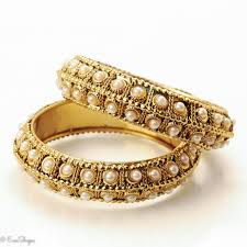 gold pearl bangle bracelet images Antique gold and pearl bracelet bangles jpg