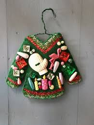 knit ugly sweater ornaments set of 3 christmas ornament