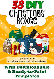 39 best christmas cut out boxes diy images on pinterest diy box