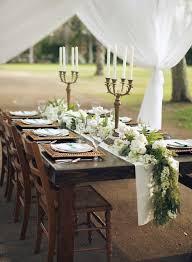 wedding reception table runners seeded eucalyptus garland table runner elizabeth anne designs the