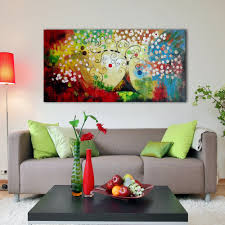 iarts colorful christmas tree wall art canvas home decor handmade