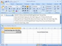 consolidate data multiple workbooks ms excel training video