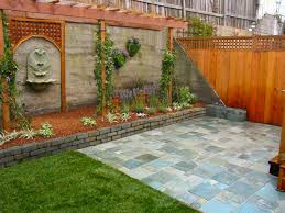 backyard brick wall garden design gardens pinterest brick