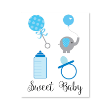 Owl Baby Shower Boy - clipart for baby shower invitations clipart collection blue