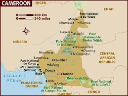 map of cameroon map of cameroon