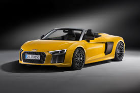 Audi R8 Spyder Pictures Auto Express New Audi R8 Spyder Revealed At 2016 New York Motor Show By Car
