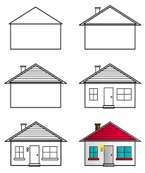 house drawings drawing houses