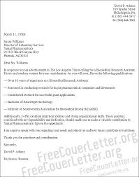 research assistant cover letter cover letter for research