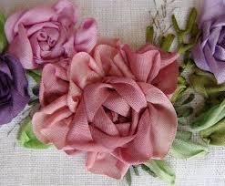 silk ribbon roses 138 best slik ribbon embroidery images on silk ribbon