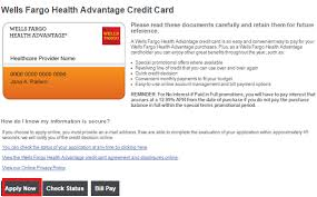 apply for wells fargo health advantage credit card application