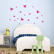 compare prices on room girls online shopping buy low price room butterfly wall stickers diy wall backdrop vinyl poster wall decoration for bedroom living room children girls