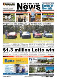 myall coast news of the area 2 march 2017 by news of the area issuu