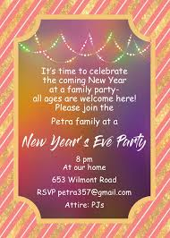 new year invitation card new year s party invitations 2018