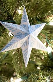 free printable 3d snowflake star ornaments houseful handmade