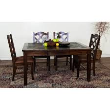 Slate Dining Room Table Sunny Designs 1273dc Santa Fe Extension Table In Dark Chocolate