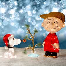 snoopy tree brown snoopy the lonely tree christmas decor