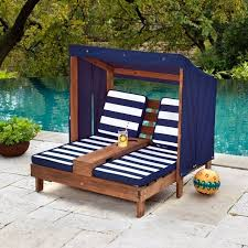 Chaise Lounge Pool Outdoor Kidkraft Double Chaise Lounge Patio Furniture Pool Child