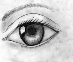 drawn eye emo pencil and in color drawn eye emo